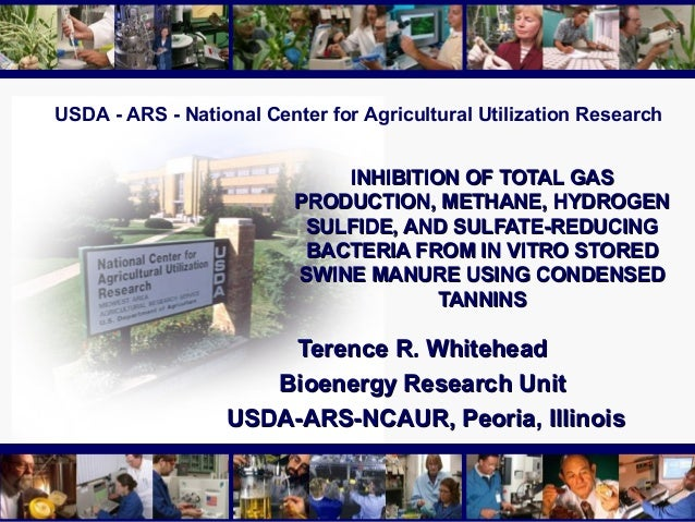 USDA - ARS - National Center for Agricultural Utilization ResearchINHIBITION OF TOTAL GASINHIBITION OF TOTAL GASPRODUCTION...