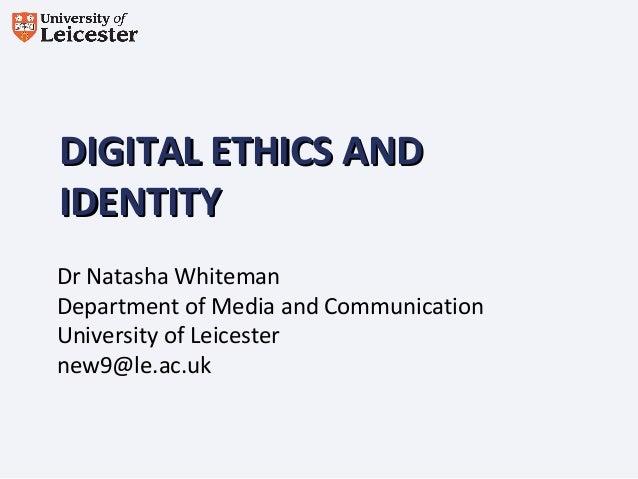 Natasha Whiteman - MEDEAnet webinar: Digital Ethics