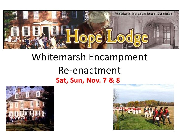 Hope Lodge/Whitemarsh Encampment