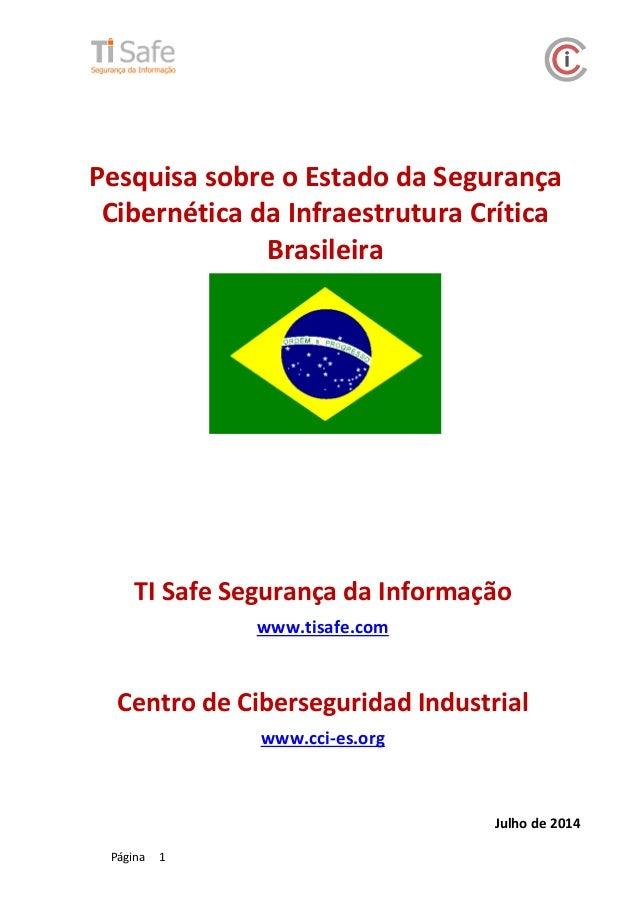 Pesquisa sobre o Estado da Segurança Cibernética da Infraestrutura Crítica Brasileira