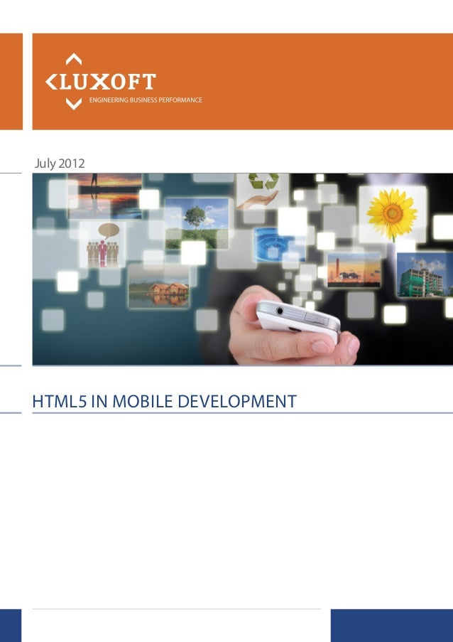 July 2012HTML5 in MobiLe DeveLopMenT