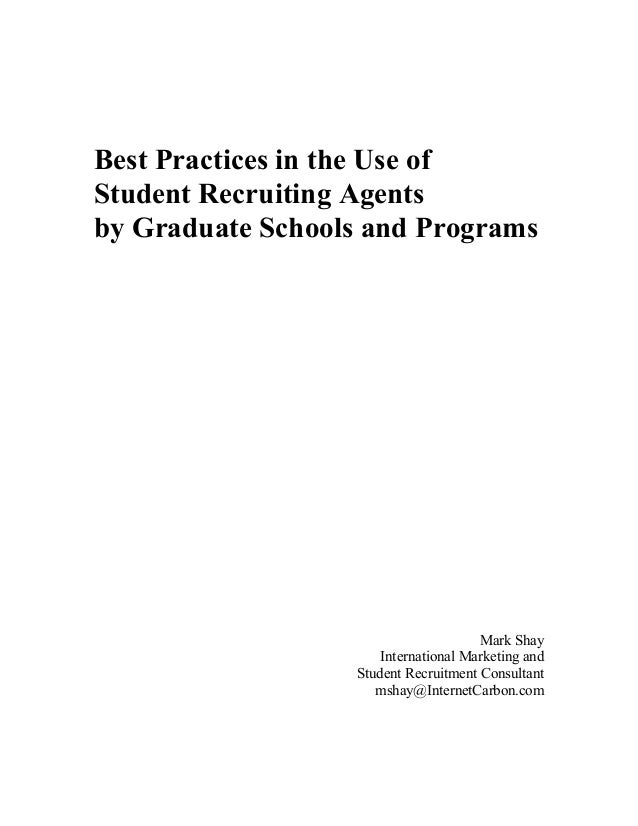 White paper   best practices for grad programs using student recruiting agents