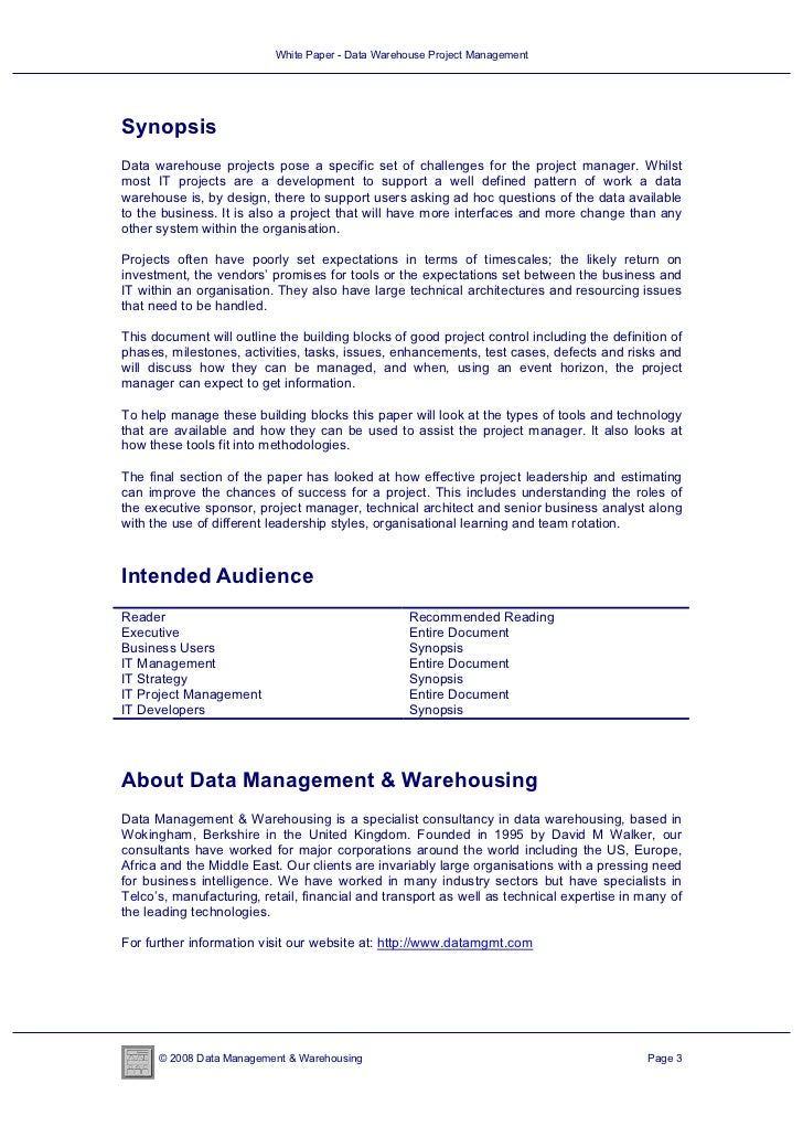 data warehouse term paper