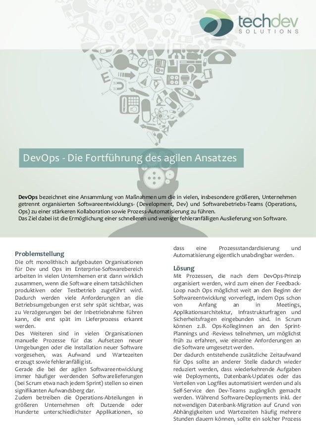 ! Problemstellung- Die! oft! monolithisch! aufgebauten! Organisationen! für! Dev! und! Ops! im! Enterprise9Softwarebereich...