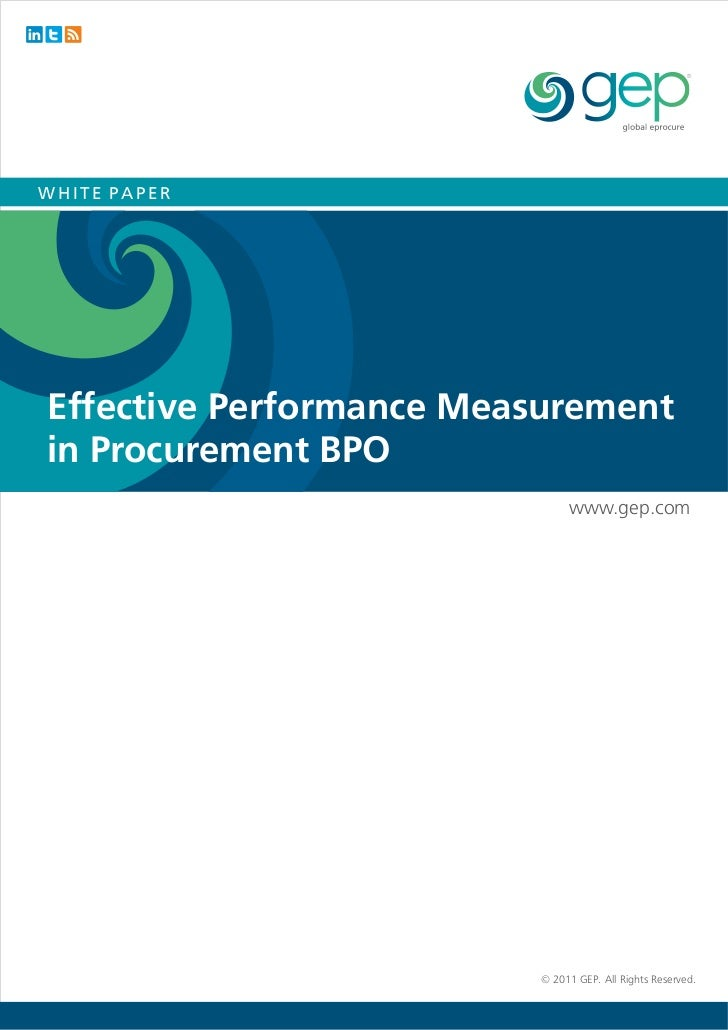 performance measurement paper Portfolio performance evaluation this paper provides a review of the methods for measuring portfo- early performance measures were sometimes crude in their treat.
