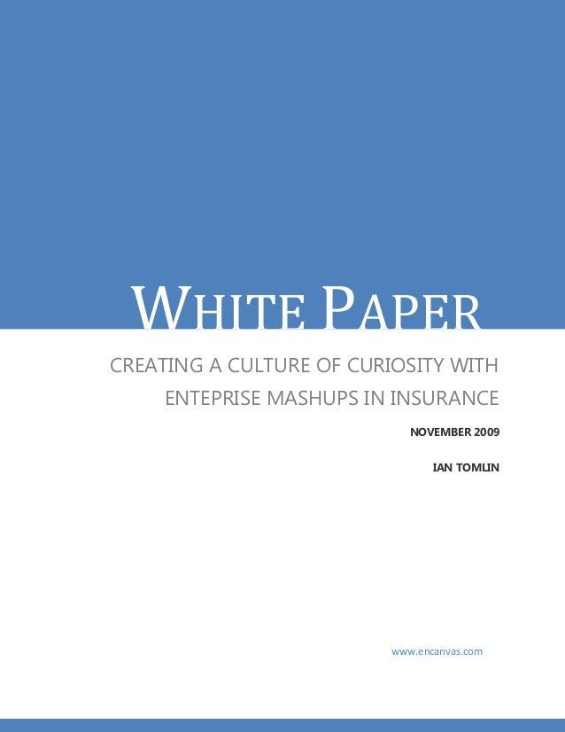 White paper - Enterprise Mashups in the Insurance Sector