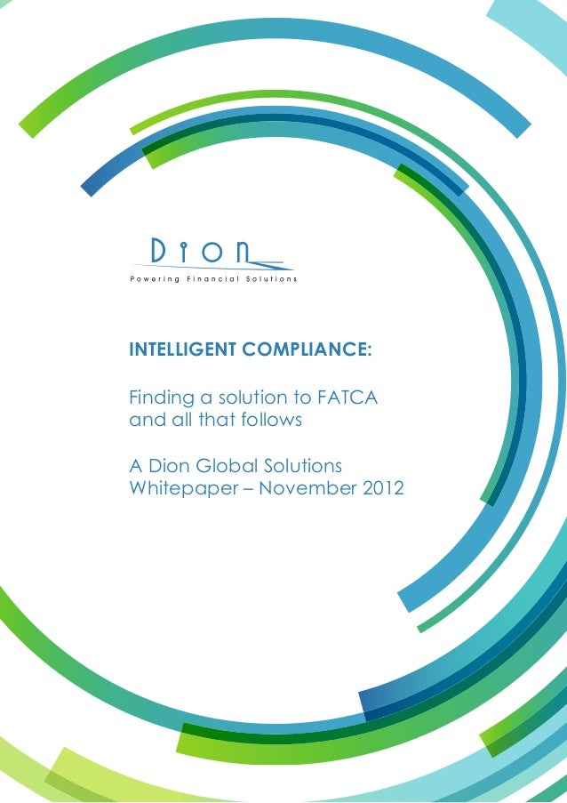 White paper on fatca from Dion Global Soln