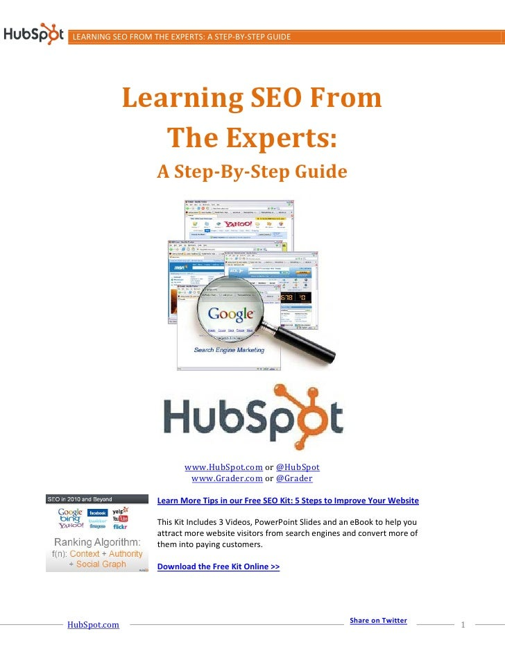 Whitepaper   hubspot - learning from the seo experts