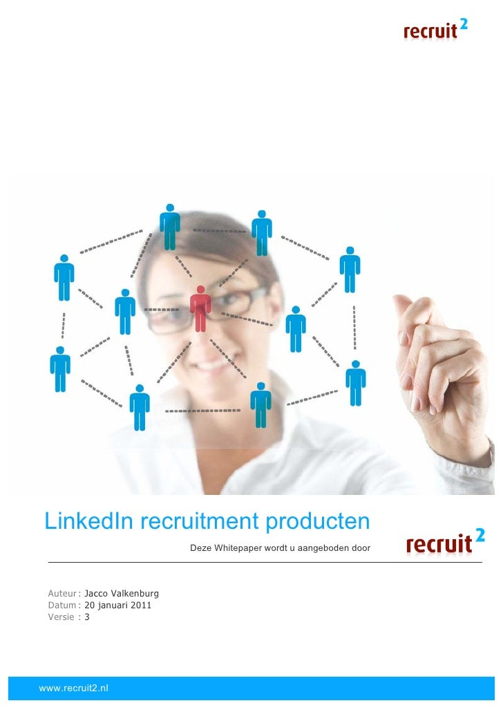 Whitepaper LinkedIn Recruitment Producten