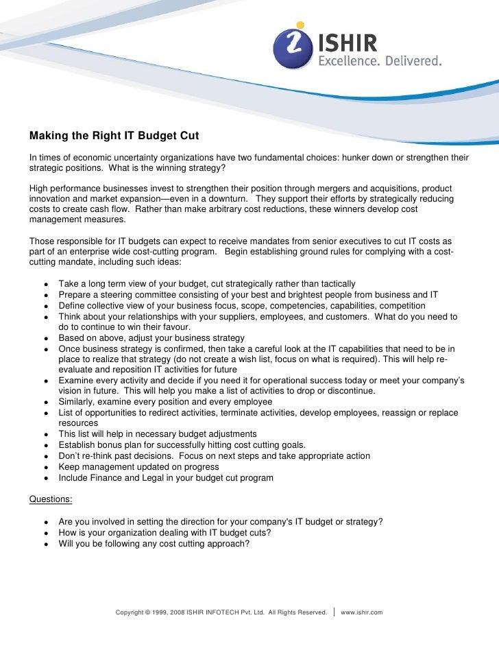 White Paper: IT budgets Custom Software Application Development, Custom Application