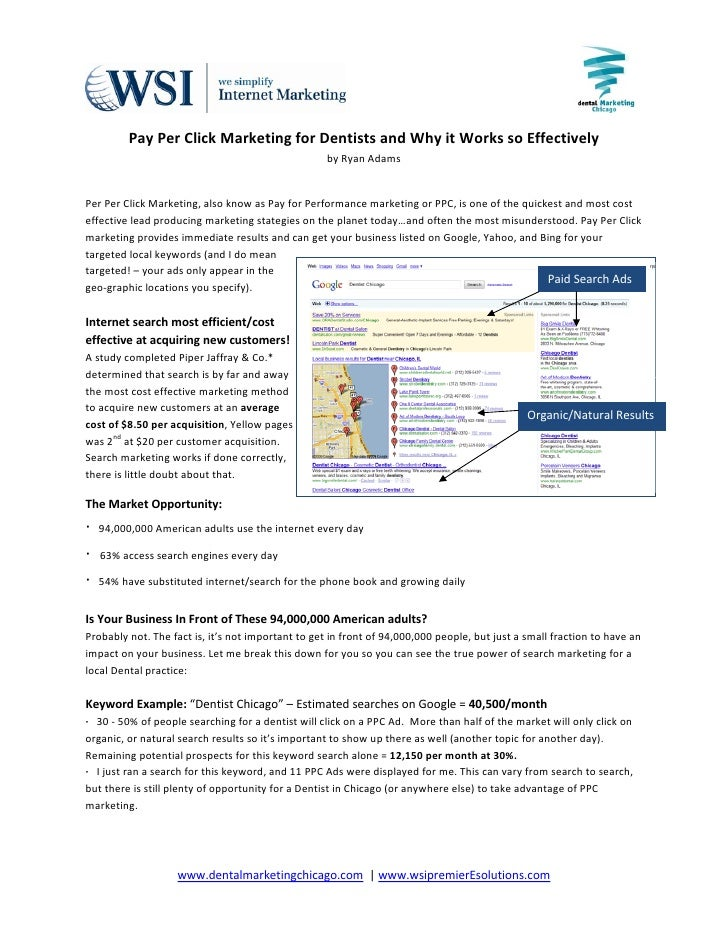 Pay Per Click Marketing for Dentists and W...