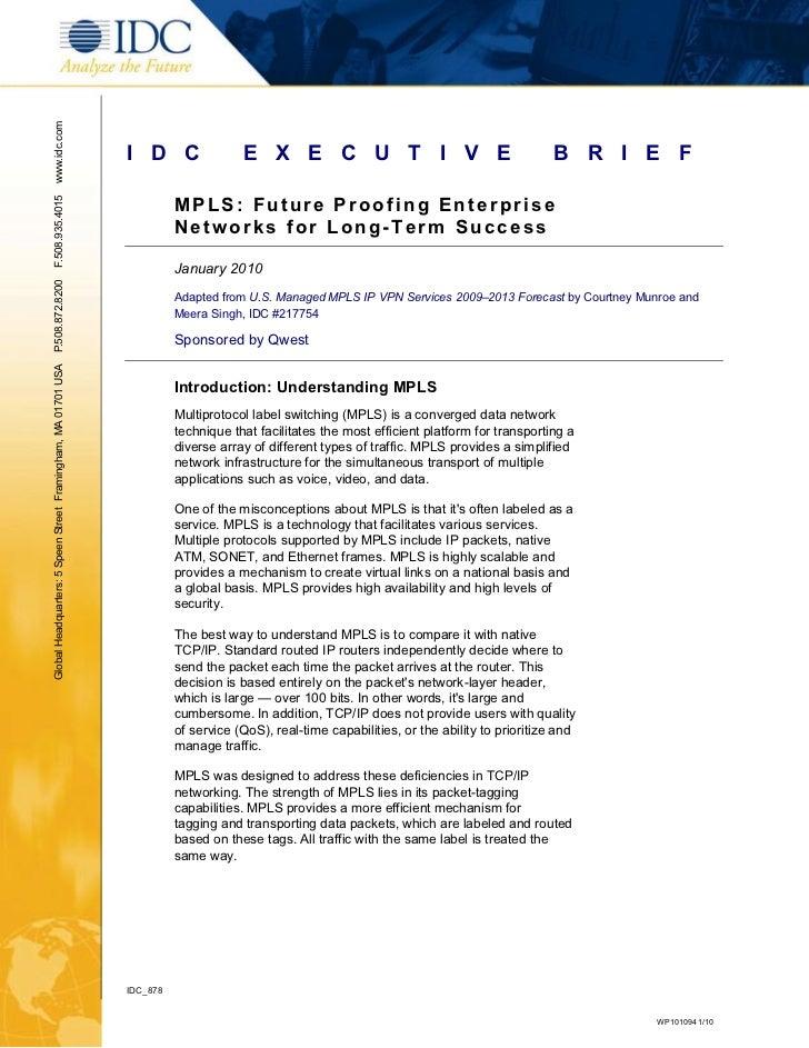 MPLS: Future Proofing Enterprise Networks for Long-Term Success
