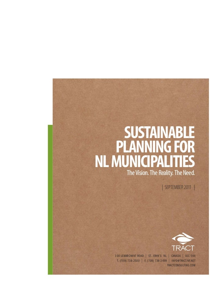 SUSTAINABLE   PLANNING FORNL MUNICIPALITIES     The Vision. The Reality. The Need.                                        ...