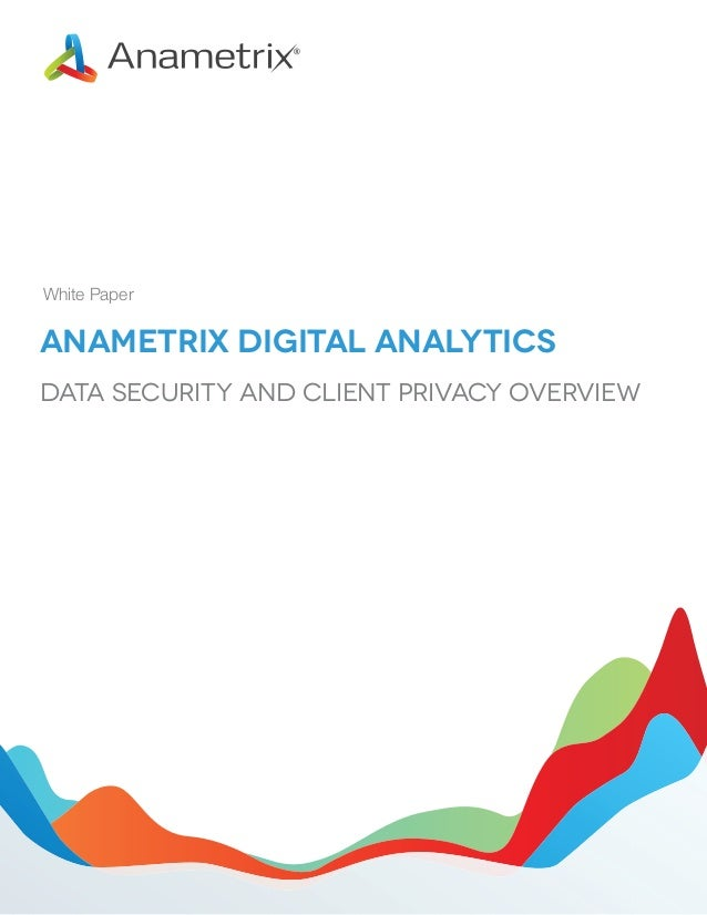 White Paper  Anametrix Digital Analytics Data Security and Client Privacy Overview