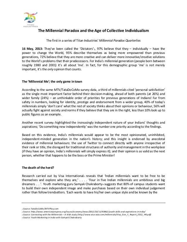 White paper - Titan Industries Millennial Paradox