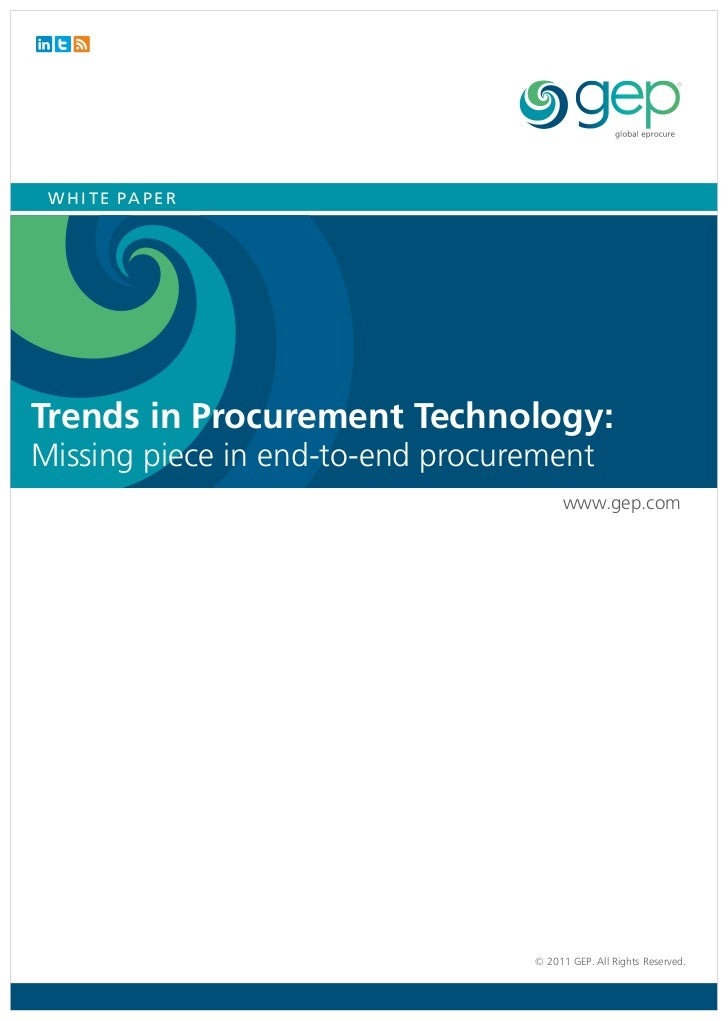 WHITE PAPERTrends in Procurement Technology:Missing piece in end-to-end procurement                                       ...