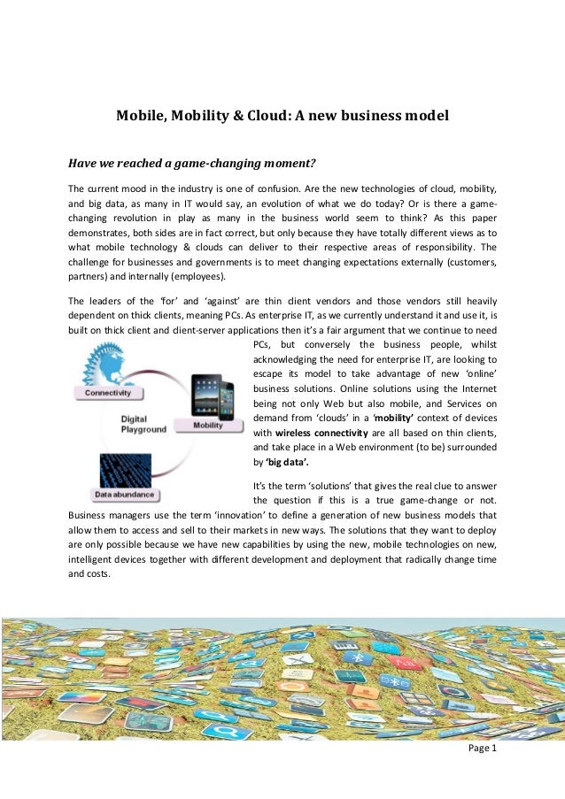 Whitepaper vision on mobile, mobility, clouds and the enterprise of tomorrow