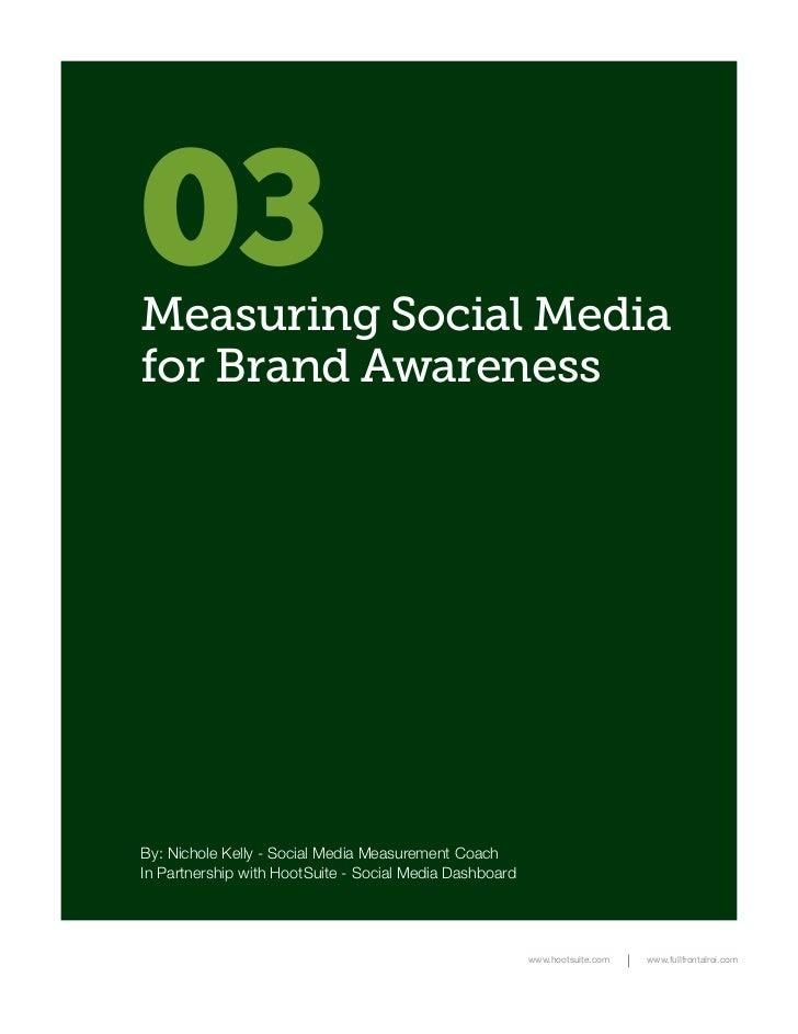 Measuring Social Media for Brand Awareness