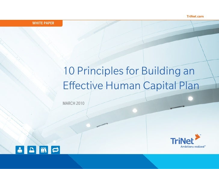 White Paper  10 Principles For Building An Effective Human Capital Plan [2010]