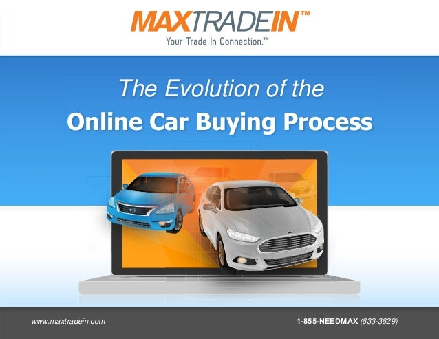 The Evolution of the Online Car Buying Process www.maxtradein.com 1-855-NEEDMAX (633-3629)