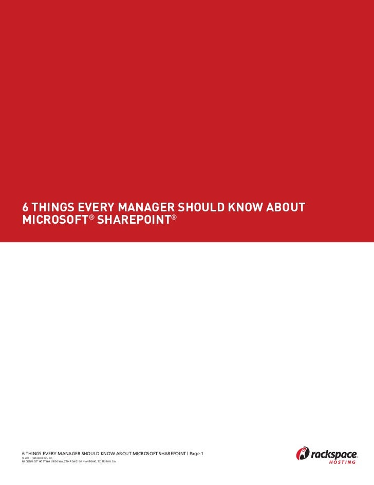 6 Things Every Manager Should Know About Microsoft SharePoint