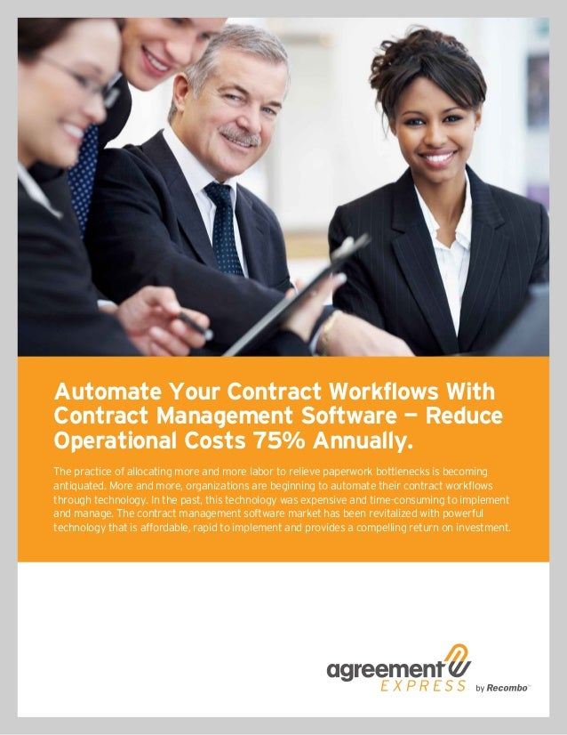 Automate Your Contract Workflows With Contract Management Software — Reduce Operational Costs 75% Annually. The practice o...
