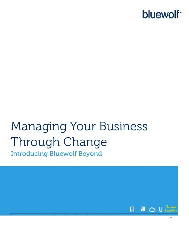 Managing Your BusinessThrough ChangeIntroducing Bluewolf Beyond                              The Agile                    ...