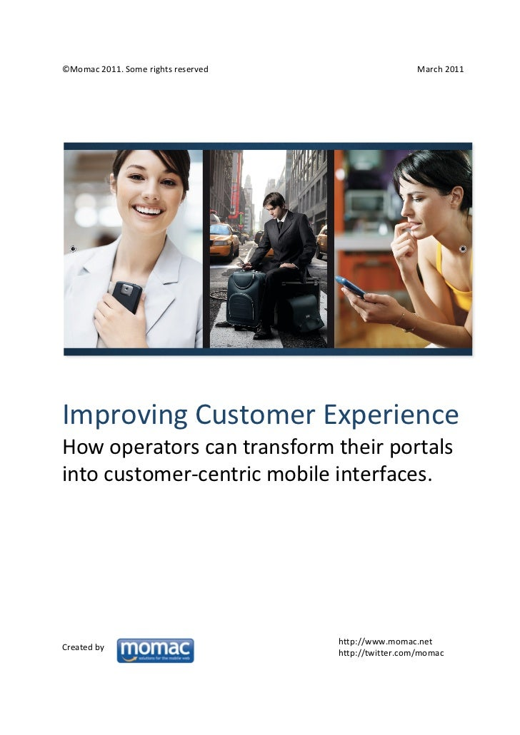 Improving user experience : how operators can transform their portal into customer-centric mobile interfaces