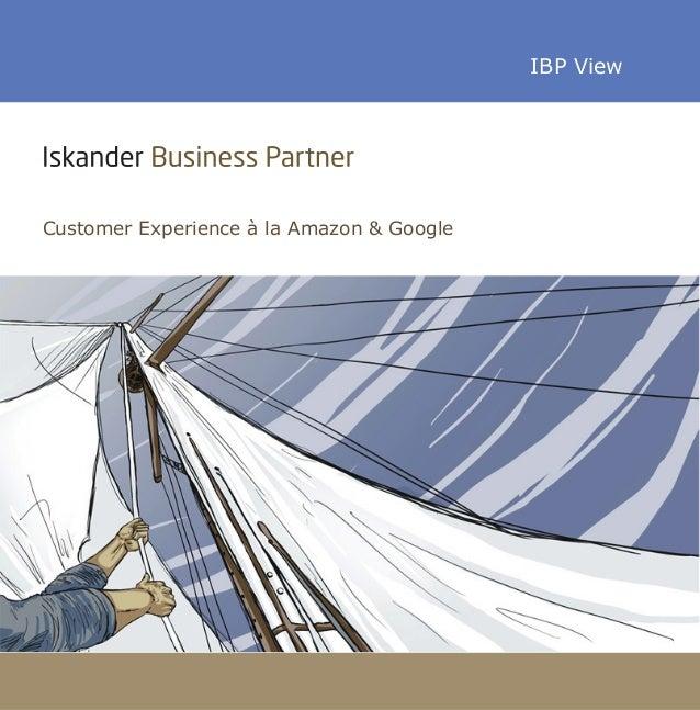 IBP ViewCustomer Experience à la Amazon & Google