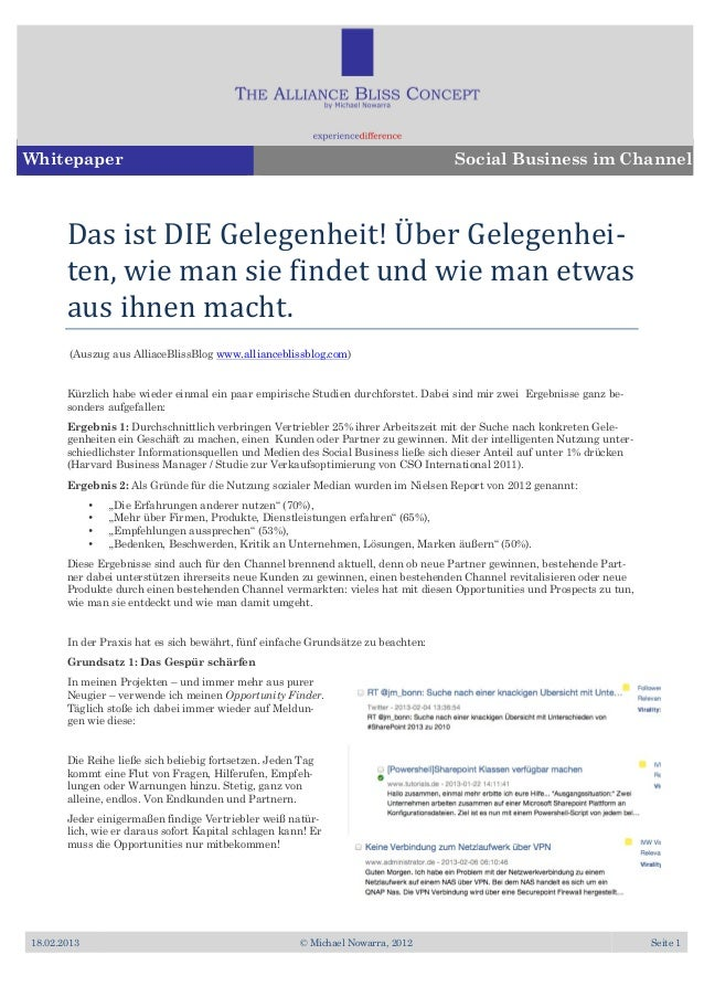 Whitepaper                                                                        Social Business im Channel       Das	  i...