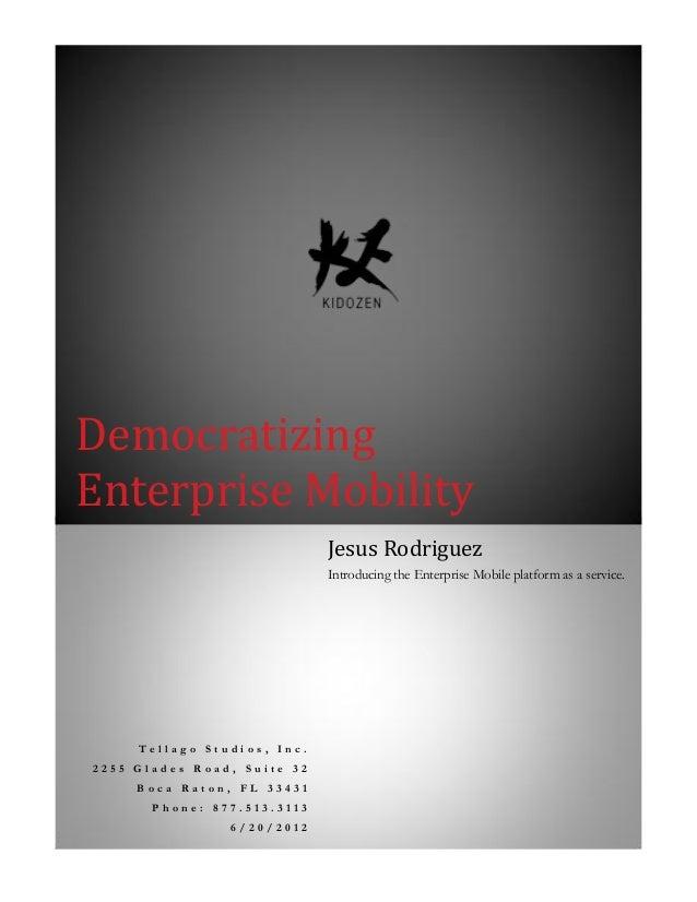 Whitepaper Democratizing Enterprise-Mobility