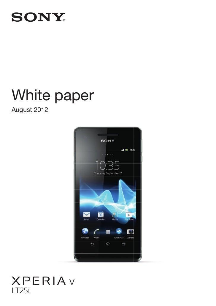 White paperAugust 2012  g              vLT25i T25i