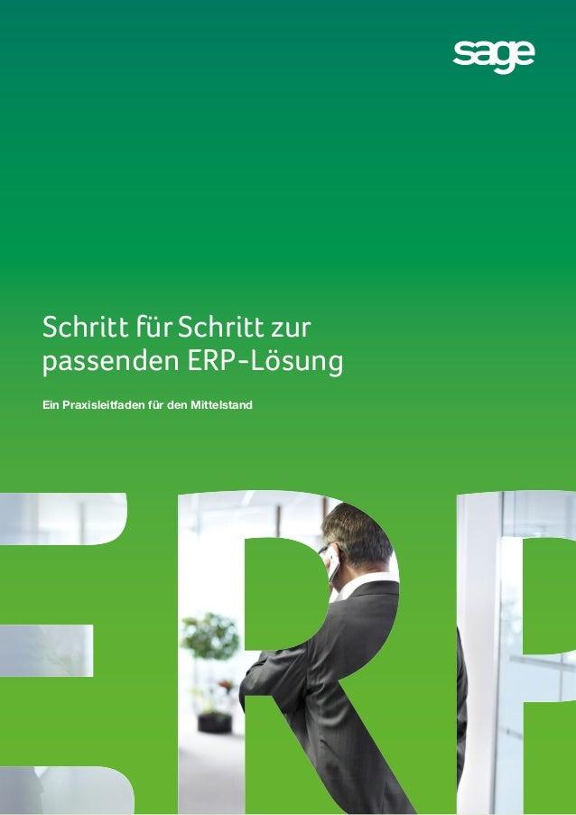 Schritt für Schritt zur passenden ERP-Lösung Ein Praxisleitfaden für den Mittelstand
