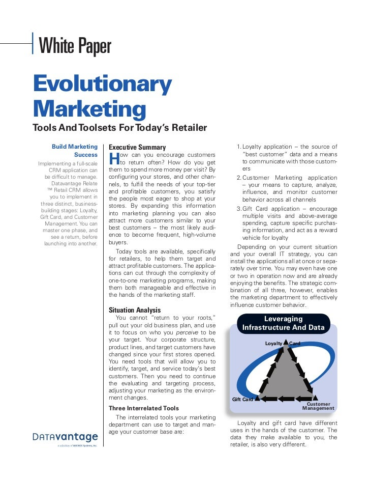 Whitepaper Evolutionary Marketing