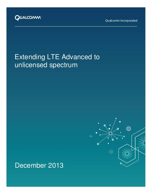 Extending LTE Advanced to unlicensed spectrum