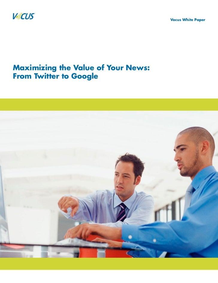 Google and Twitter as Social Media Marketing Tools