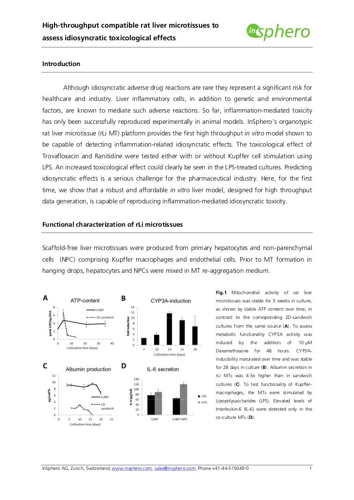 High-throughput compatible rat liver microtissues toassess idiosyncratic toxicological effectsIntroduction         Althoug...