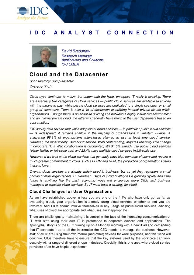 White paper impact of-cloud-on-the-data-centre
