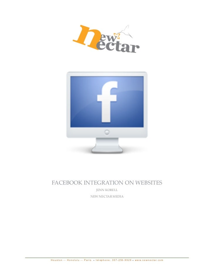 FACEBOOK INTEGRATION ON WEBSITES                                 JENN KORELL                           NEW NECTAR MEDIAHou...