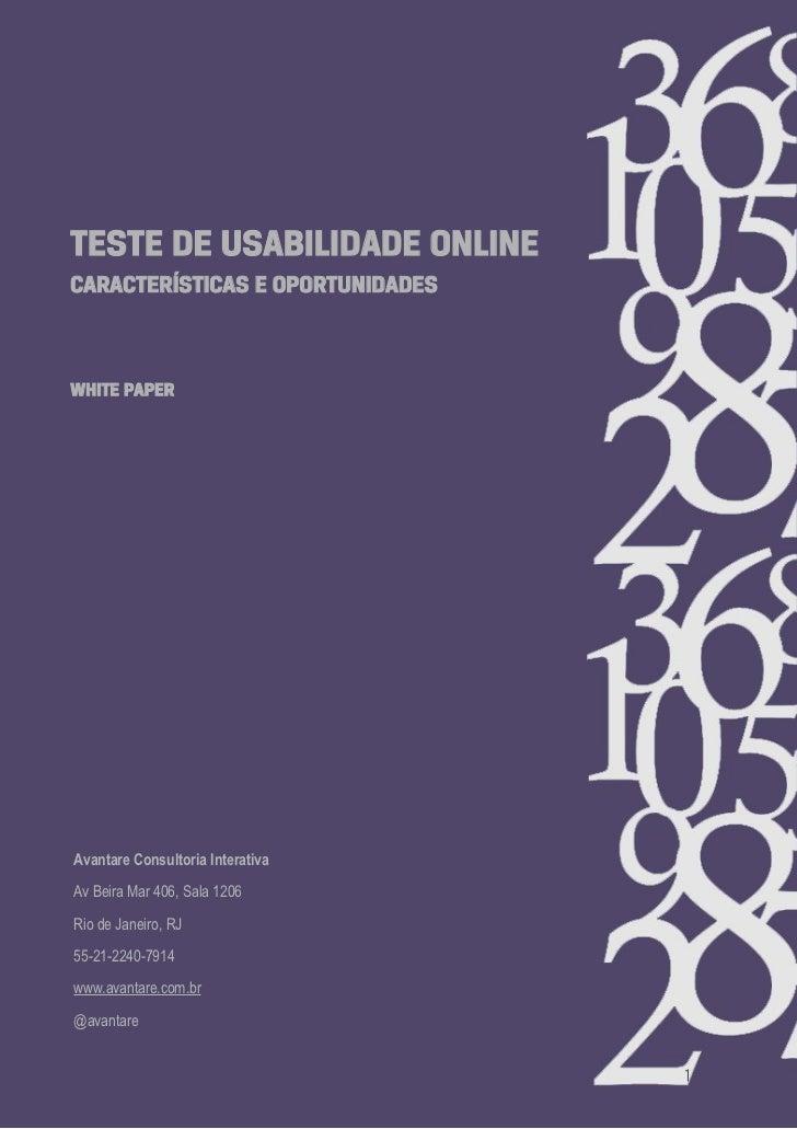 Teste de Usabilidade Online: vantagens e aplicações