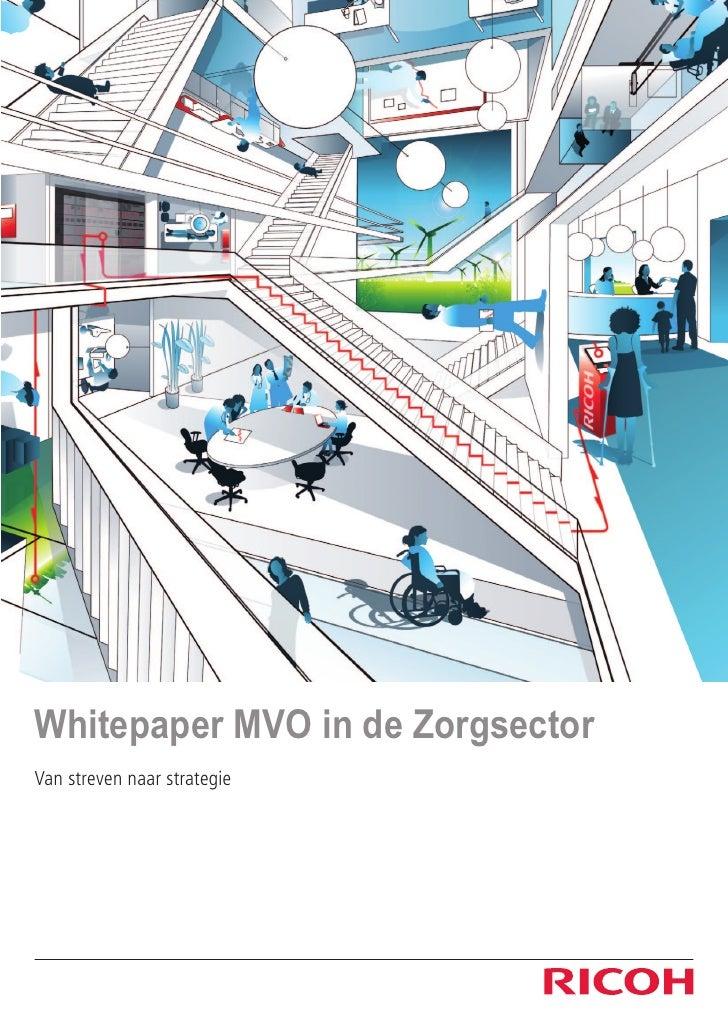 Whitepaper MVO in de ZorgsectorVan streven naar strategie
