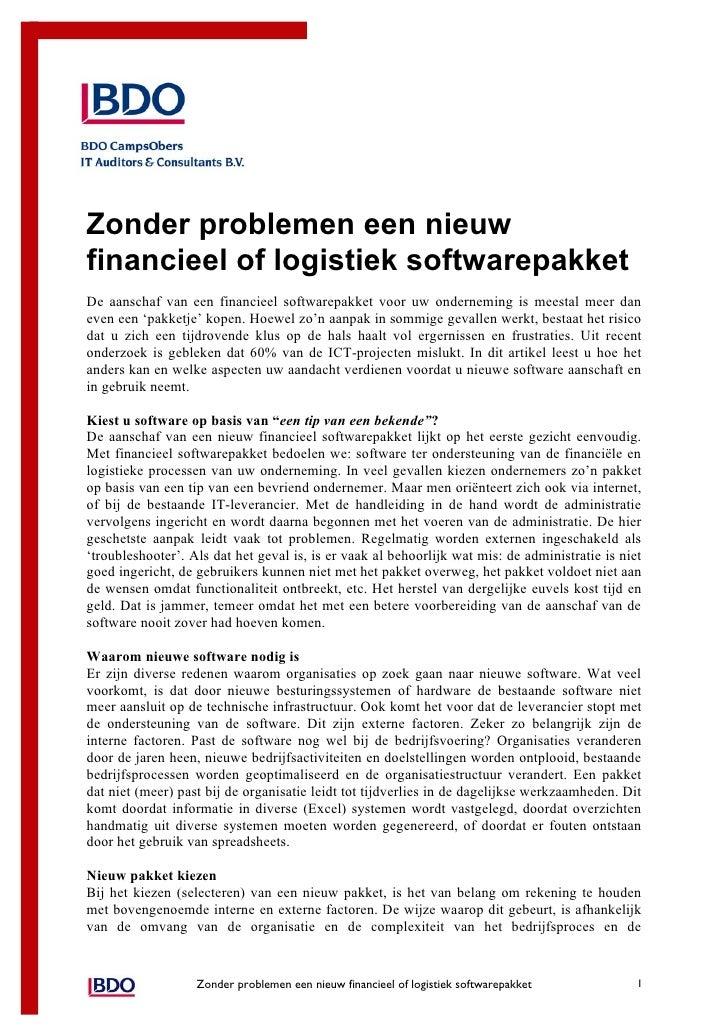 White paper nieuwe software