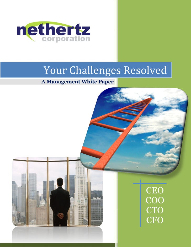 Your Challenges Resolved A Management White Paper                                CEO                            COO       ...
