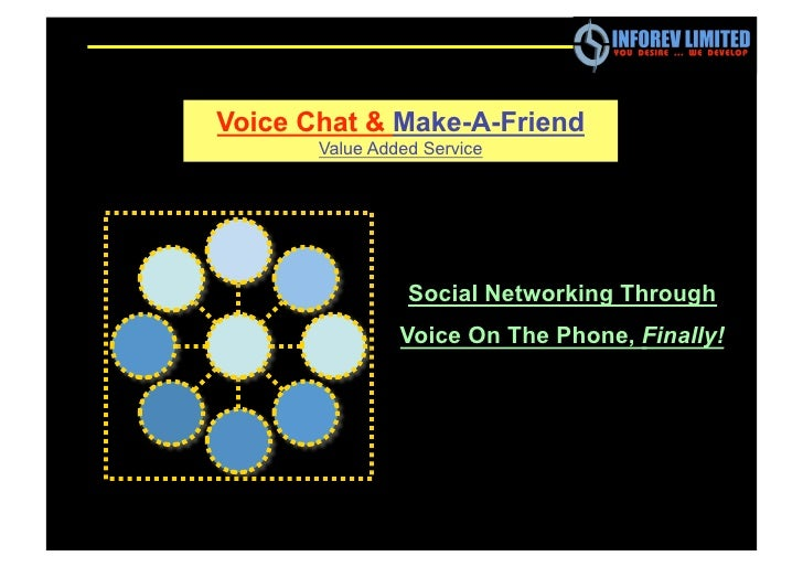 Voice Chat & Make-A-Friend        Value Added Service                      Social Networking Through                 Voice...