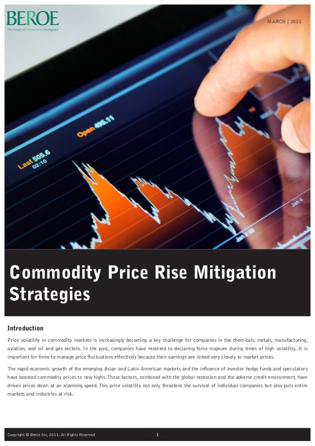 Commodity Price Rise MitigationStrategiesIntroductionPrice volatility in commodity markets is increasingly becoming a key ...