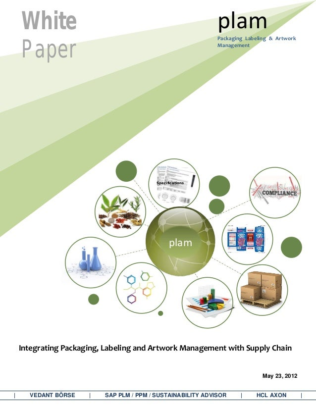Integrating Packaging, Labeling and Artwork Management with Supply Chain May 23, 2012 | VEDANT BÖRSE | SAP PLM / PPM / SUS...