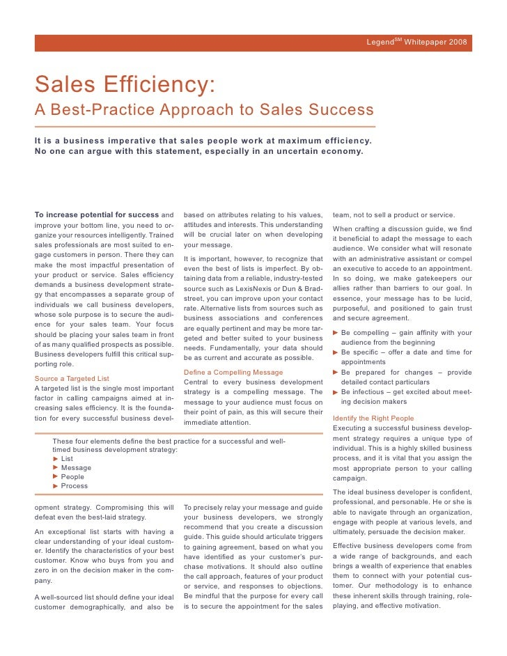 White paper_Sales Efficiency