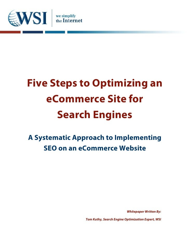 Whitepaper seo and ecommerce