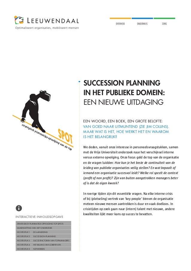 SUCCESSION PLANNING                                                                                       IN HET PUBLIEKE ...