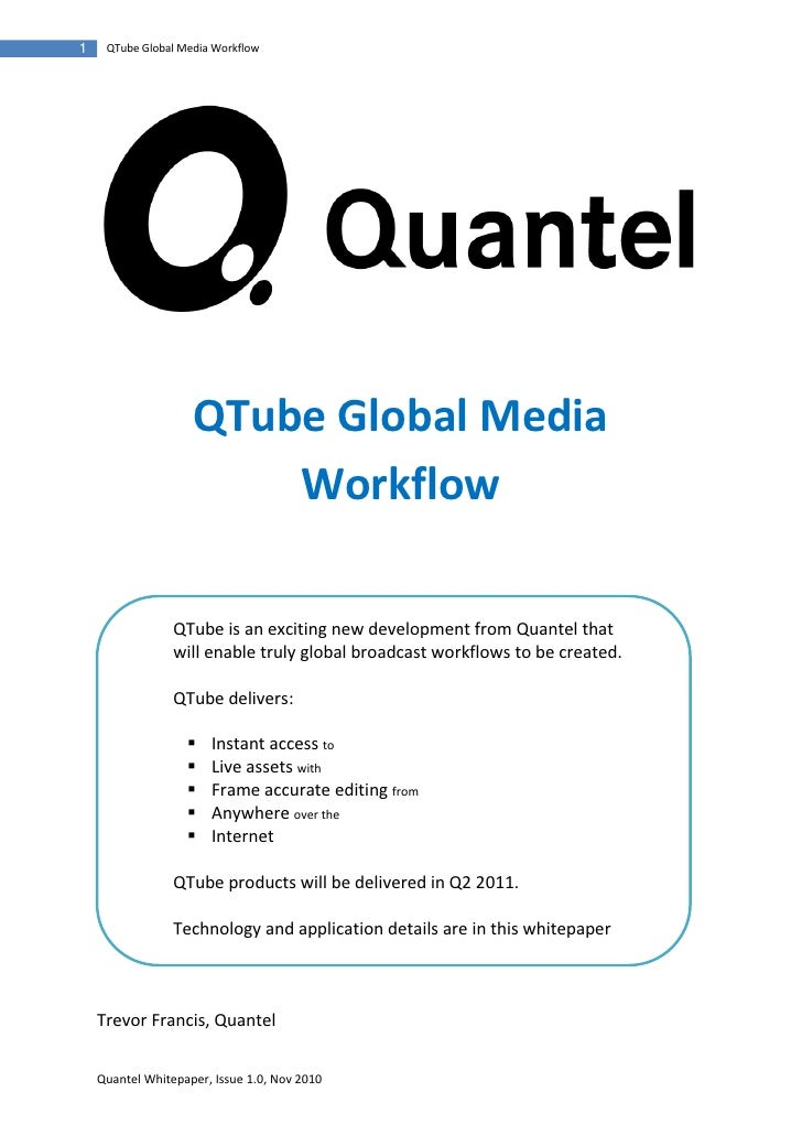QTube Global Media Workflow